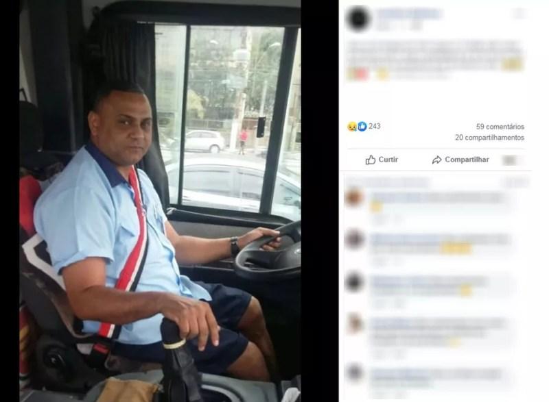Ivan Francisco da Silva, motorista do ônibus acidentado — Foto: Reprodução/Facebook