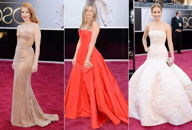 JESSICA CHASTAIN, JENNIFER ANISTON E JENNIFER LAWRENCE (Foto: Getty Images)