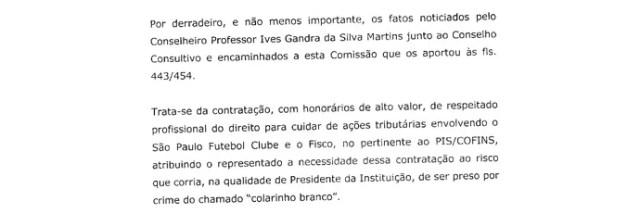 (original) Parecer Comitê Ética São Paulo Página 18 (Foto: Arte: GloboEsporte.com)