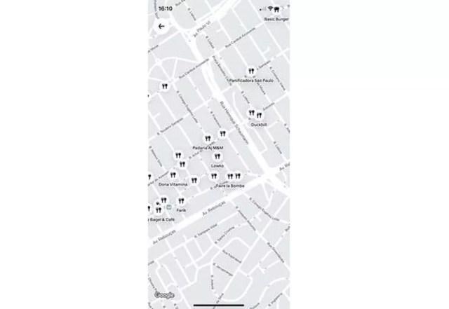 Novo mapa mostra restaurantes com opção de retirada no Uber Eats — Foto: Divulgação/Uber Eats