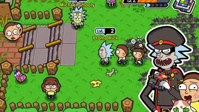 Em Pocket Mortys jogadores podem reunir Mortys como se fossem Pokémon — Foto: Reprodução/Google Play