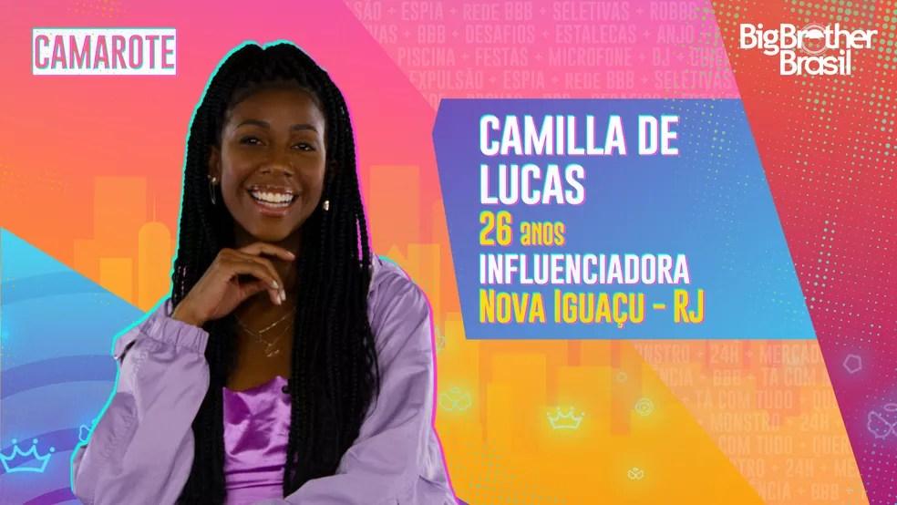Camilla de Lucas, BBB21 — Foto: Globo