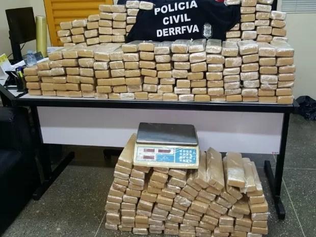 Maconha foi apreendida dentro de uma casa em Cuiabá (Foto: Divulgação/Polícia Civil-MT)