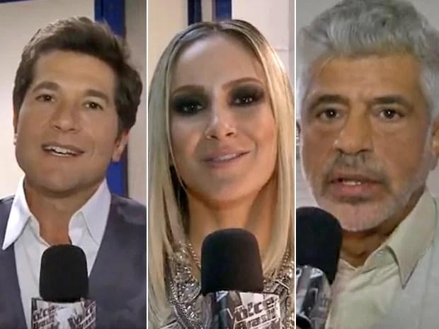Técnicos do The Voice dão conselhos a participantes que terão segunda chance (Foto: Caldeirão do Huck / TV Globo)