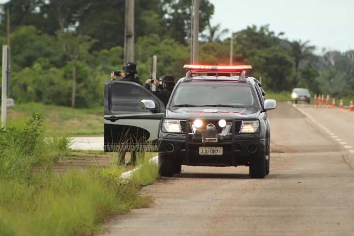 Sistema Penitenciário Federal confere últimos ajustes no esquema de segurança no Presídio Federal de Porto Velho.  — Foto: Pedro Bentes/G1