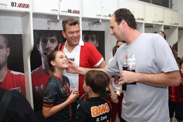 Rogério Ceni Tour Morumbi (Foto: Rubens Chiri/saopaulofc.net)