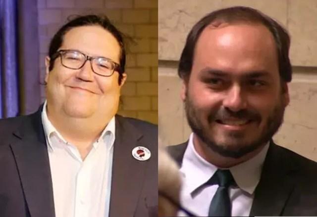 Tarcísio Motta e Carlos Bolsonaro trocaram de posições em relação à eleição de 2016: desta vez, o vereador do PSOL foi o mais votado e o do Republicanos, o segundo  — Foto: Marcos Serra Lima/G1 e Reprodução/GloboNews