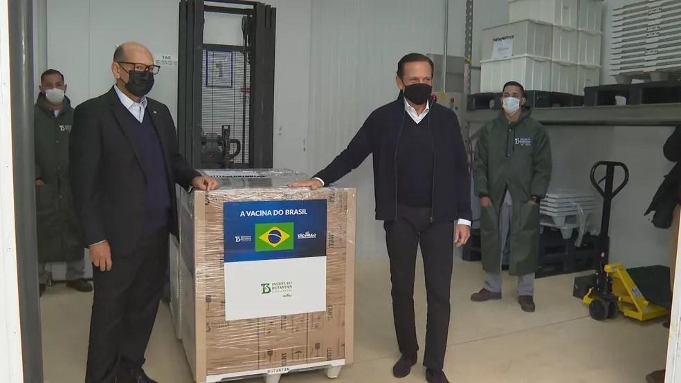 imgs-lote-coronavac-1405-frame-29 Butantan entrega 1,1 milhão de doses da CoronaVac ao Ministério da Saúde e paralisa produção da vacina por falta de matéria-prima