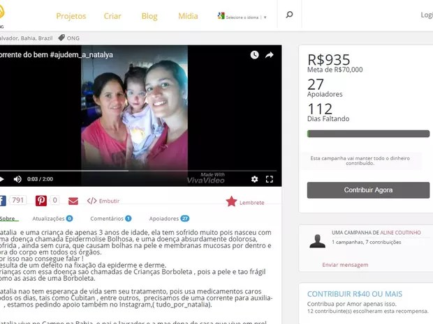 Campanha foi lançada há menos de um mês na internet (Foto: Reprodução)