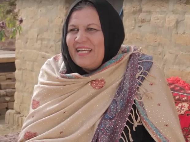 Aqeela Asifi, professora paquistanesa que montou uma escola em um campo de refugiados (Foto: Reprodução Global Teacher Prize/ Youtube)