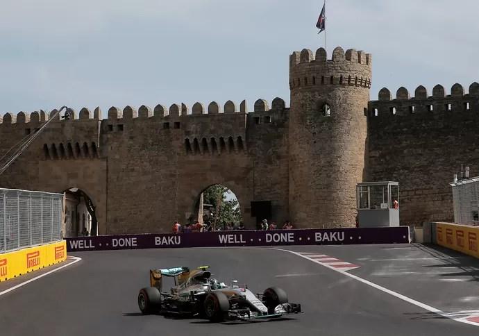 Nico Roseberg treino classificatório GP de Baku (Foto: Reuters)
