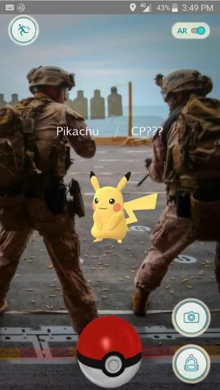 'Saia da linha de tiro, Pikachu! Essa é uma violação ma segurança!'