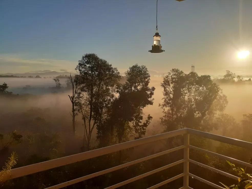 Amanhecer em São Leopoldo — Foto: Cris P.O.Mello