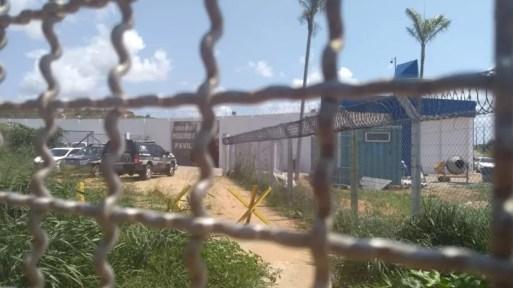 Corpos foram encontrados no Presídio Rogério Coutinho Madruga, conhecido como pavilhão 5 de Alcaçuz (Foto: Ediana Miralha/Inter TV Cabugi)