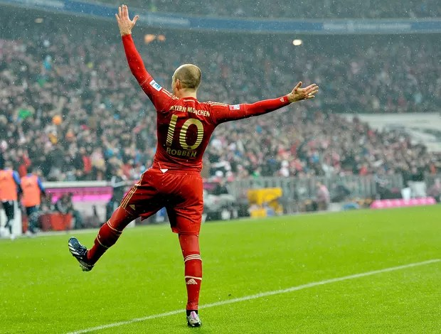 Robben gol Bayern de Munique Hamburgo (Foto: AFP)