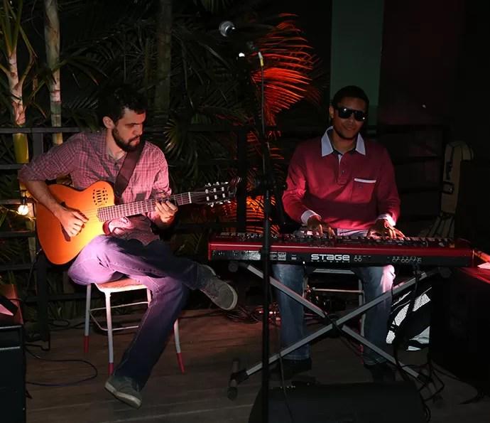 Gustavo Pereira e Luiz Otávio. Os são são integrantes da banda do Adnight (Foto: Isabella Pinheiro/Gshow)