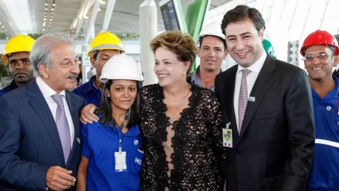 Dilma na Inauguração da obra do Aeroporto de Brasília (Foto: Reprodução)