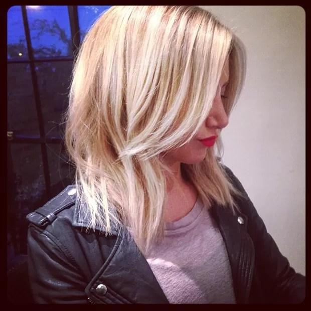 Ashley Tisdale exibe novo visual (Foto: Instagram/ Reprodução)