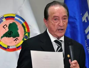 Eugenio Figueredo, presidente da Conmebol (Foto: AFP)