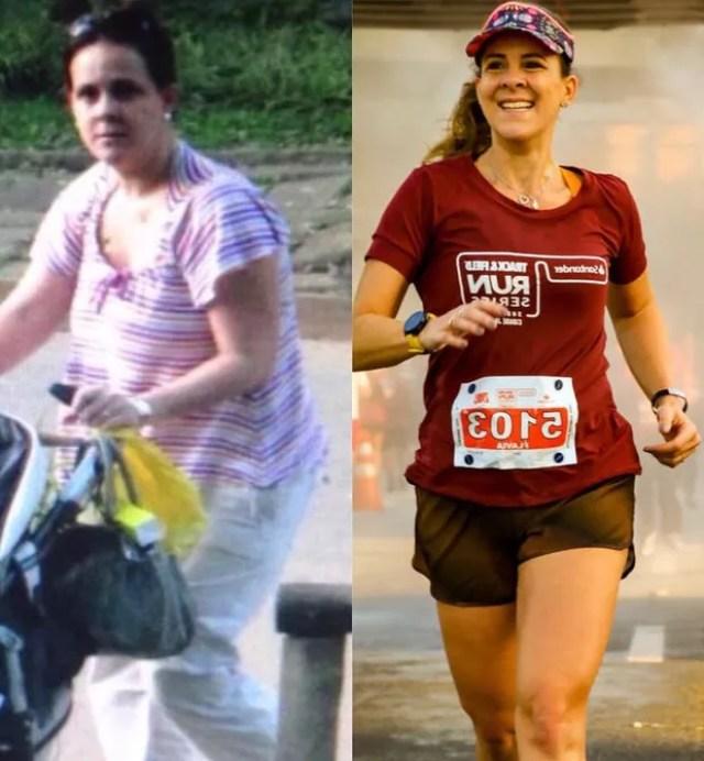 """Resultado de imagem para """"Eu era sedentária, estava acima do peso e a corrida me transformou"""", diz mãe de três"""