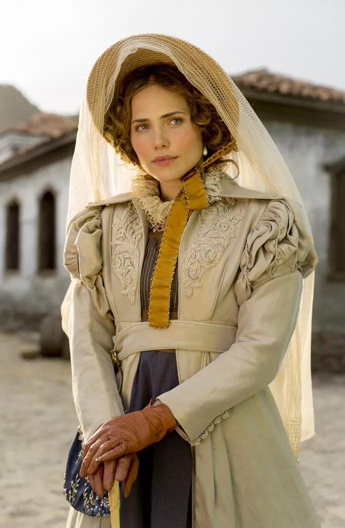 Letícia Colin aparece, pela primeira vez, como Leopoldina, sua personagem em 'Novo Mundo', a nova novela das 6 (Foto: Ellen Soares/ Gshow)