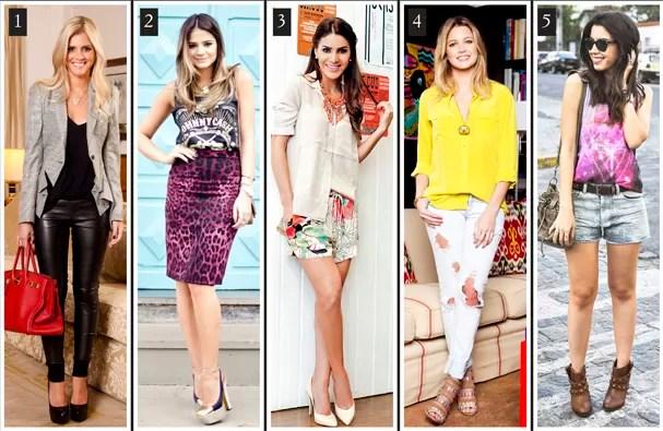 Lalá Rudge, Thássia Naves, Camila Coelho, Helena Bordon e Camila Coutinho  (Foto: Divulgação )