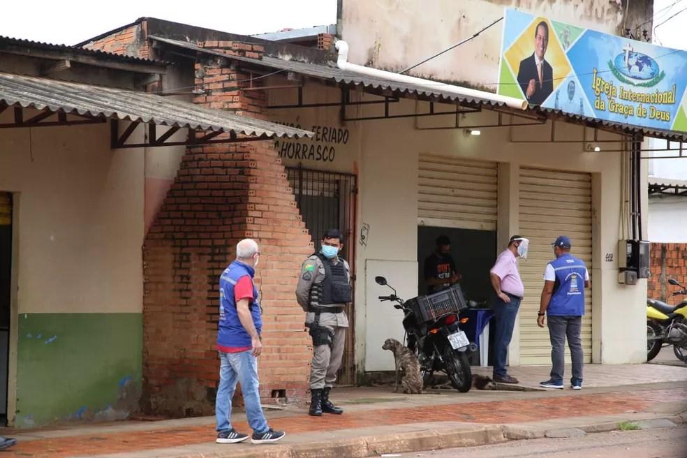 Fiscalizações do cumprimento do decreto estadual foram feitas entre sexta (2) e domingo (4) — Foto: Dharcules Pinheiro/Ascom Sejusp