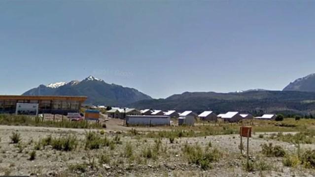Um surto afeta a pequena localidade de Epuyén, na Patagônia argentina — Foto: Google Maps