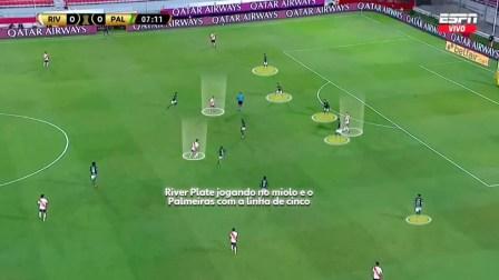 River Plate se prepara para fazer uma tabela por dentro do campo — Foto: Reprodução/Léo Miranda