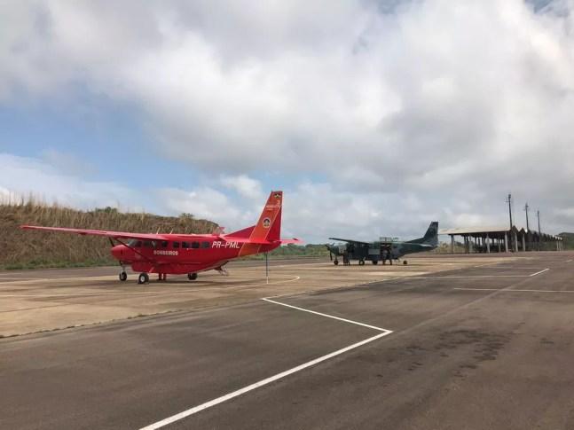 Avião do Corpo de Bombeiros em Porto Velho — Foto: Ana Kézia Gomes/g1
