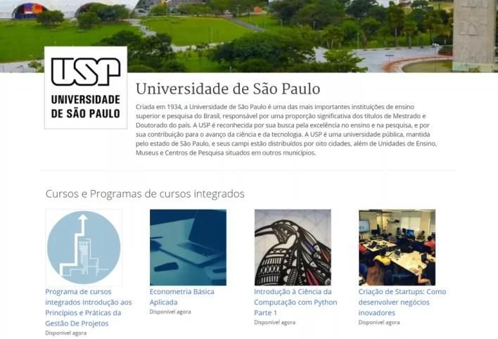 Doutores e pós-doutores da USP ministram cursos online gratuitos — Foto: Reprodução/Coursera