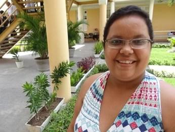 Flávia admite que ainda tem medo da doença, mas que esperança é maior. (Foto: Katherine Coutinho/G1)