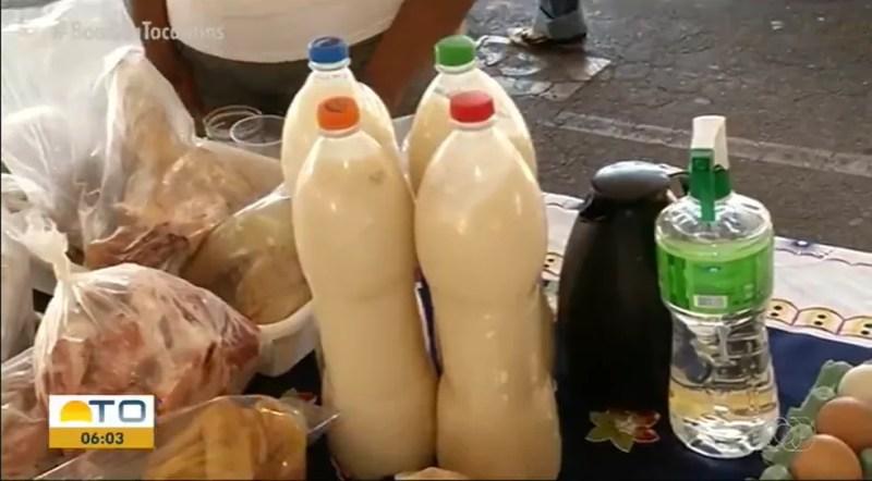 Venda de leite cru é proibida por lei federal — Foto: Reprodução/TV Anhanguera