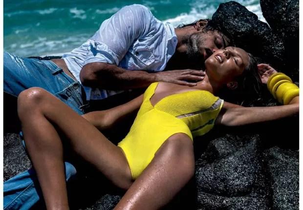 Candice Swanepoel e Marlon Teixeira (Foto: Reprodução)