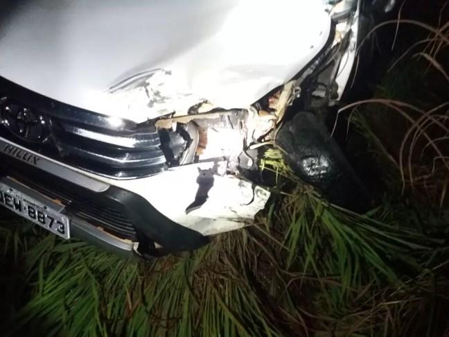 Acidente aconteceu no km 116 da BR 010 — Foto: PRF/Divulgação