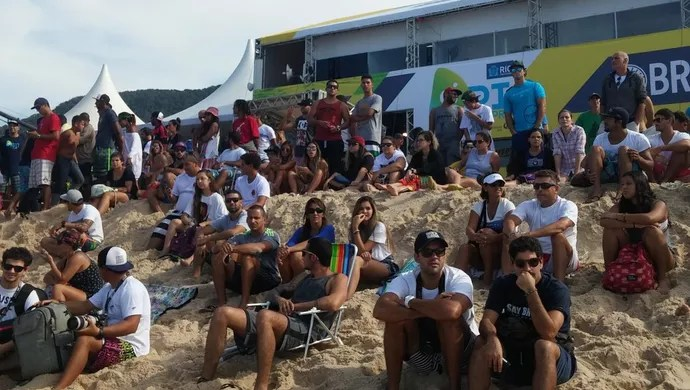 Público naareia, Rio Pro (Foto: Felipe Siqueira/Globoesporte.com)