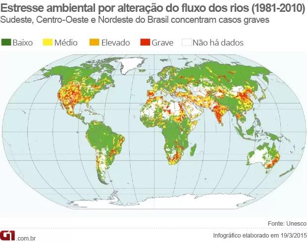 Mapa estresse ambiental (Foto: G1)