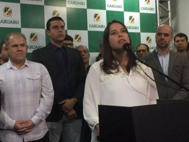 Raquel Lyra revogou edital no dia 11 de maio (Foto: Mário Flávio/G1)
