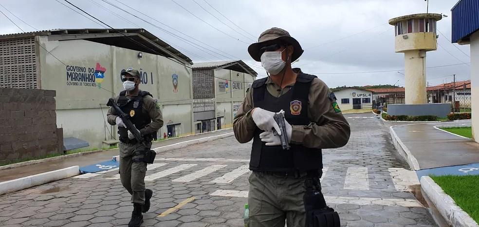 Agentes da Secretaria de Administração Penitenciária do Maranhão (SEAP) realizam o monitoramento em unidade prisional. — Foto: Divulgação/Secretaria de Administração Penitenciária do Maranhão (SEAP)