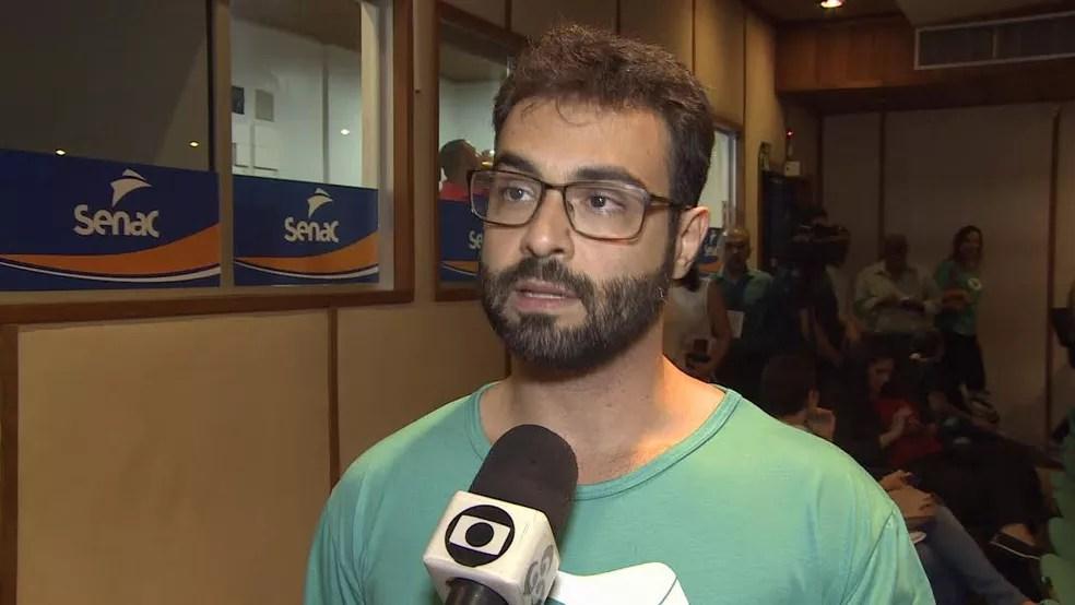 Vinícius Miguel Raduan é anunciado como candidato ao governo de RO, pela REDE. (Foto: Reprodução/Rede Amazônica)