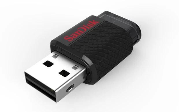 Já o outro lado é conectado em PCs por meio da porta USB (Foto: Divulgação/SanDisk)