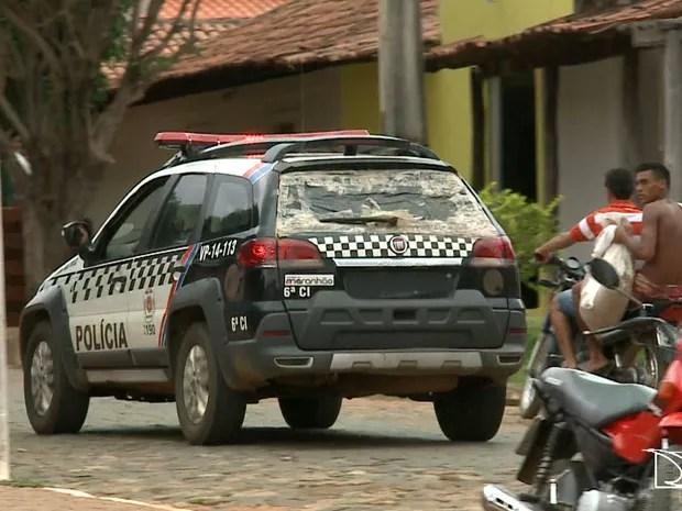 Município de Pastos Bons possui apenas uma viatura policial para tender 19 mil habitantes (Foto: Reprodução/TV Mirante)