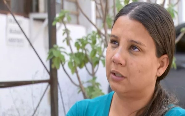 Mãe de adolescente morta pelo pai também foi agredida com soco no rosto — Foto: Reprodução/TV TEM