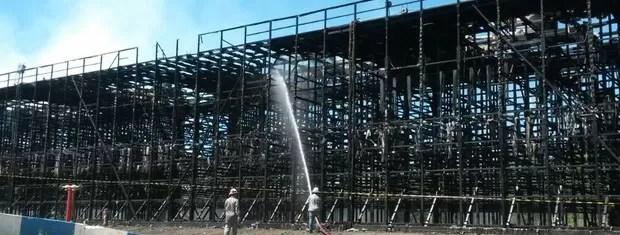 Estrutura havia sido reformada recentemente (Foto: Divulgação/Bombeiros de Candiota)