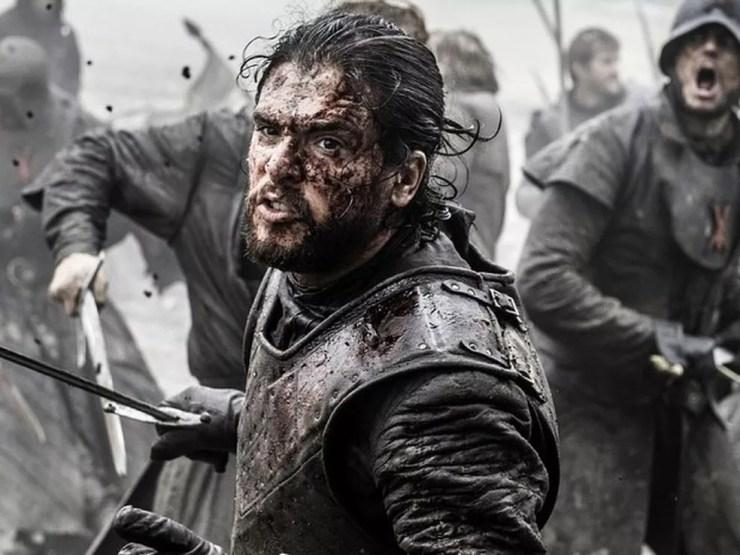 Jon Snow (Kit Harington) no épico episódio A Batalha dos Bastardos, 9º episódio da sexta temporada de Game of Thrones. (Foto: Divulgação)