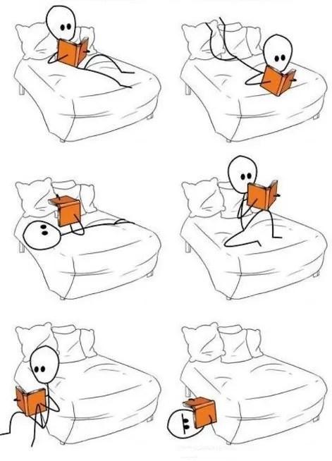 Aquela velha agonia para encontrar a posição perfeita para ler... (Foto: Reprodução)