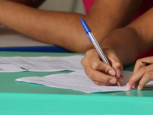 Mais de 10% dos eleitores do RN só sabem ler e escrever — Foto: Fernando Brito/G1