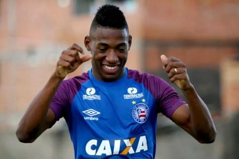 Léo Pelé jogou o Campeonato Brasileiro pelo Bahia, mas pertence ao Fluminense — Foto: Felipe Oliveira / Divulgação / E.C. Bahia