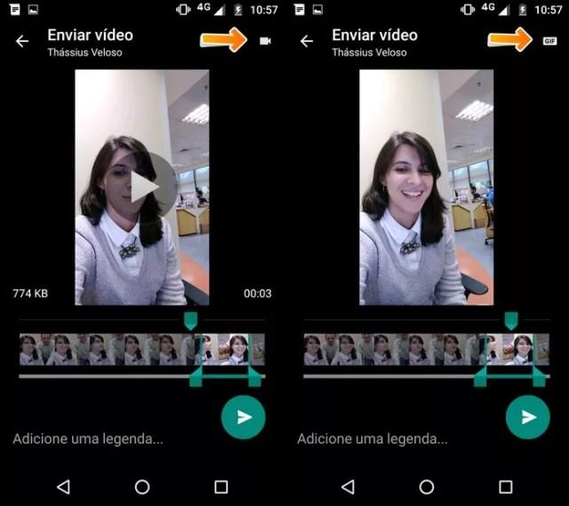 WhatsApp permite enviar GIFs personalizados em conversas (Foto: Luciana Maline/TechTudo) (Foto: WhatsApp permite enviar GIFs personalizados em conversas (Foto: Luciana Maline/TechTudo))