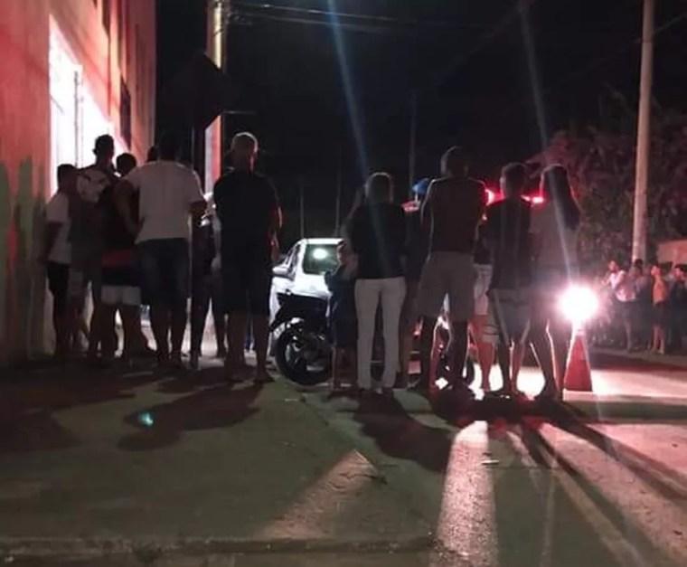 Suspeito do ataque foi baleado por militares em Paracatu e levado para hospital — Foto: Divulgação/Polícia Militar